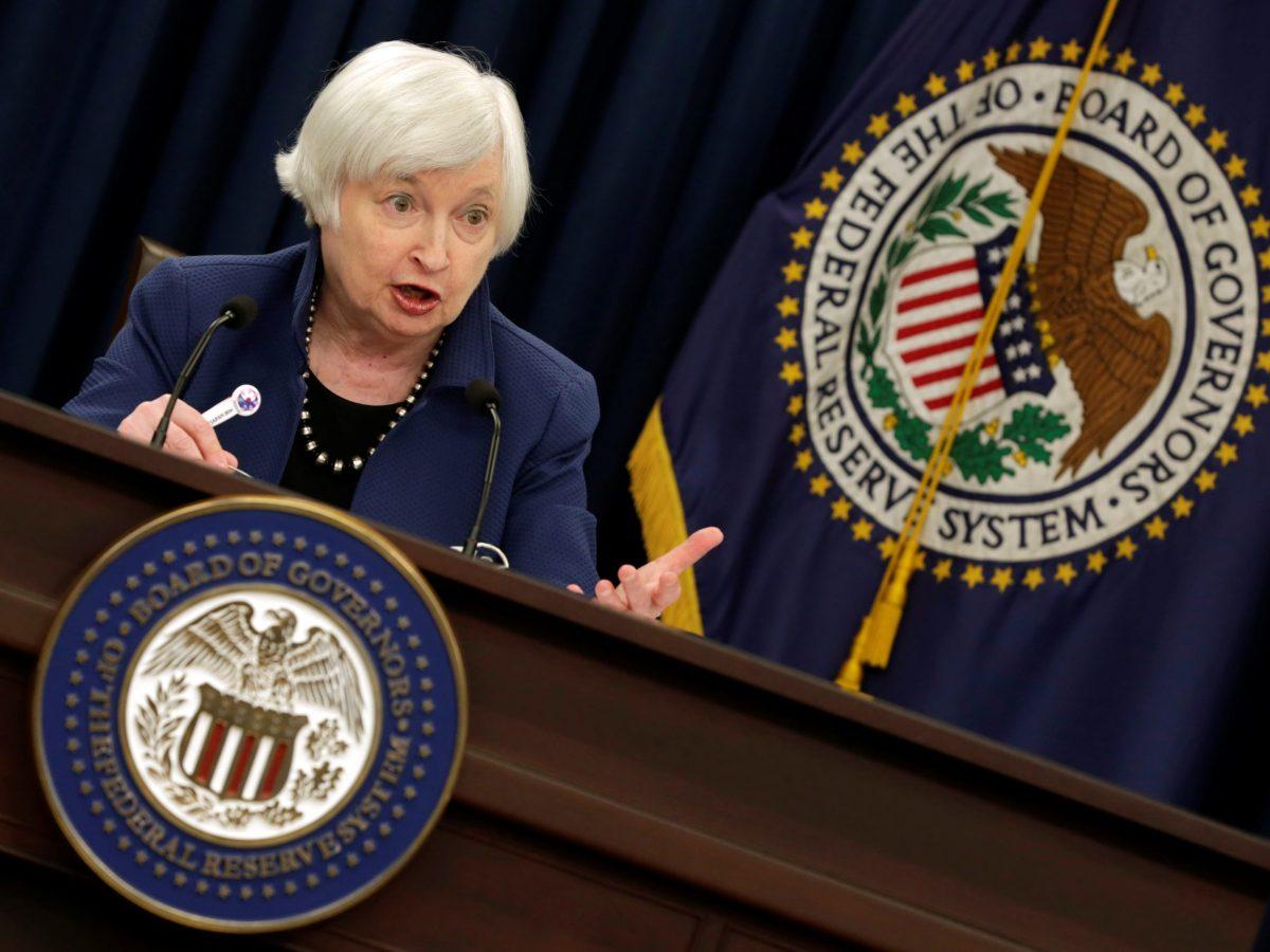Federal Reserve Chair Janet Yellen. Photo: Reuters/Yuri Gripas