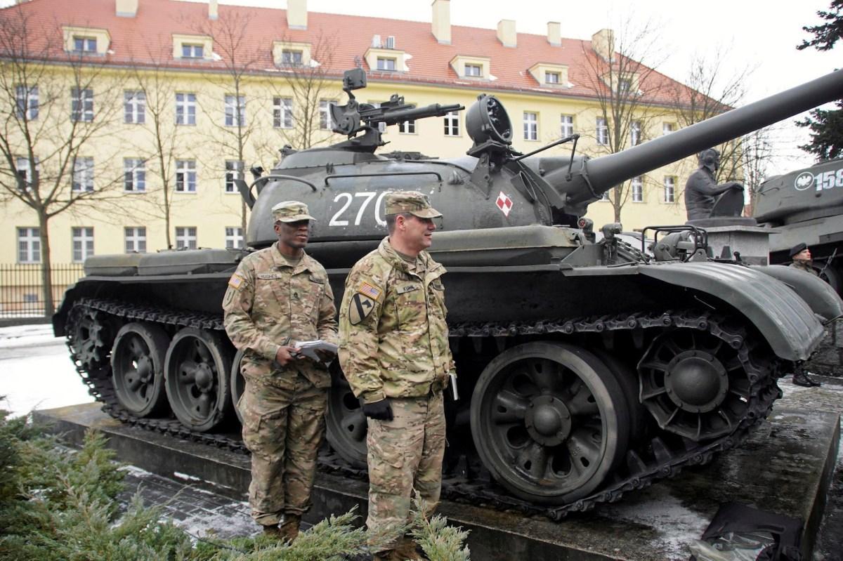 US soldiers arrive in Zagan, Poland, in January 2017 as part of Nato's troop buildup in Eastern Europe. Photo: Agencja Gazeta/Anna Krasko via Reuters
