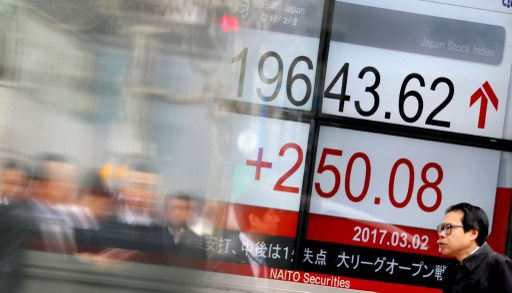 Nikkei stock average rate continuing rise. Photo: The Yomiuri Shimbun