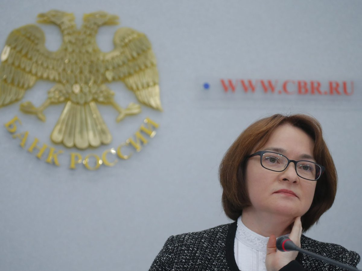 Russian central bank Governor Elvira Nabiullina attends a news conference in Moscow, Russia March 24. Photo: Reuters, Maxim Shemetov