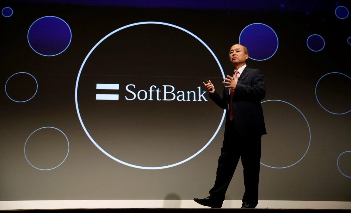 SoftBank Group Corp Chairman and CEO Masayoshi Son at a news conference in Tokyo.   Photo: Reuters