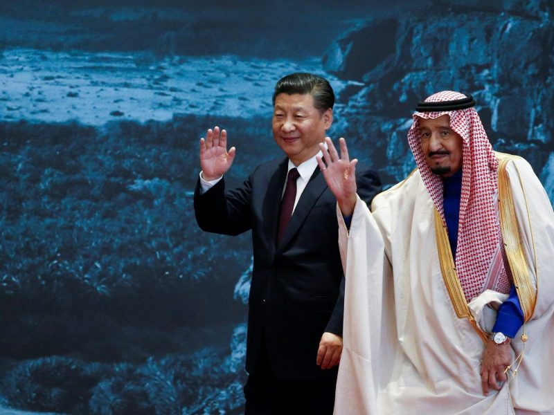 China's President Xi Jinping and Saudi Arabia's King Salman bin Abdulaziz Al-Saud. Photo: Reuters / Lintao Zhang