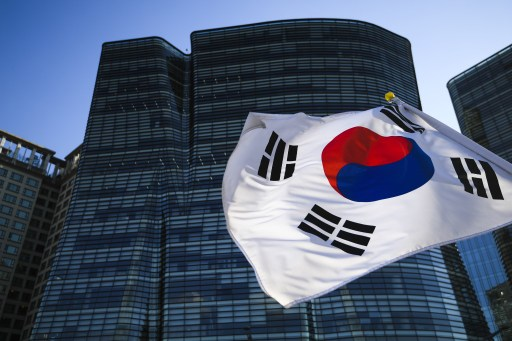 The Republic of Korea flag in Seoul. Photo: Sputnik, Ramil Sitdikov