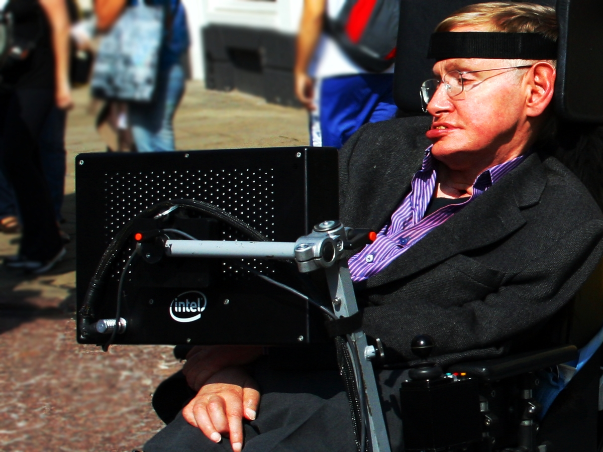 Stephen Hawking appeared as a hologram in Hong Kong. Photo: Wikimedia Commons
