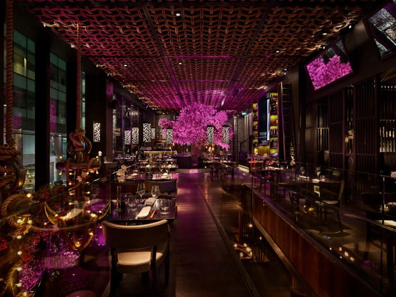 Bar room glitz: Tattu's take on Chinese restaurants sets out to change UK diners expectations. Photo: Tattu