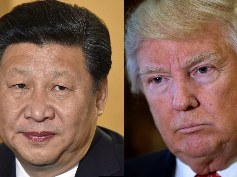 US President Donald Trump is talking tougher to China's Xi Jinping over North Korea. Photo: Reuters