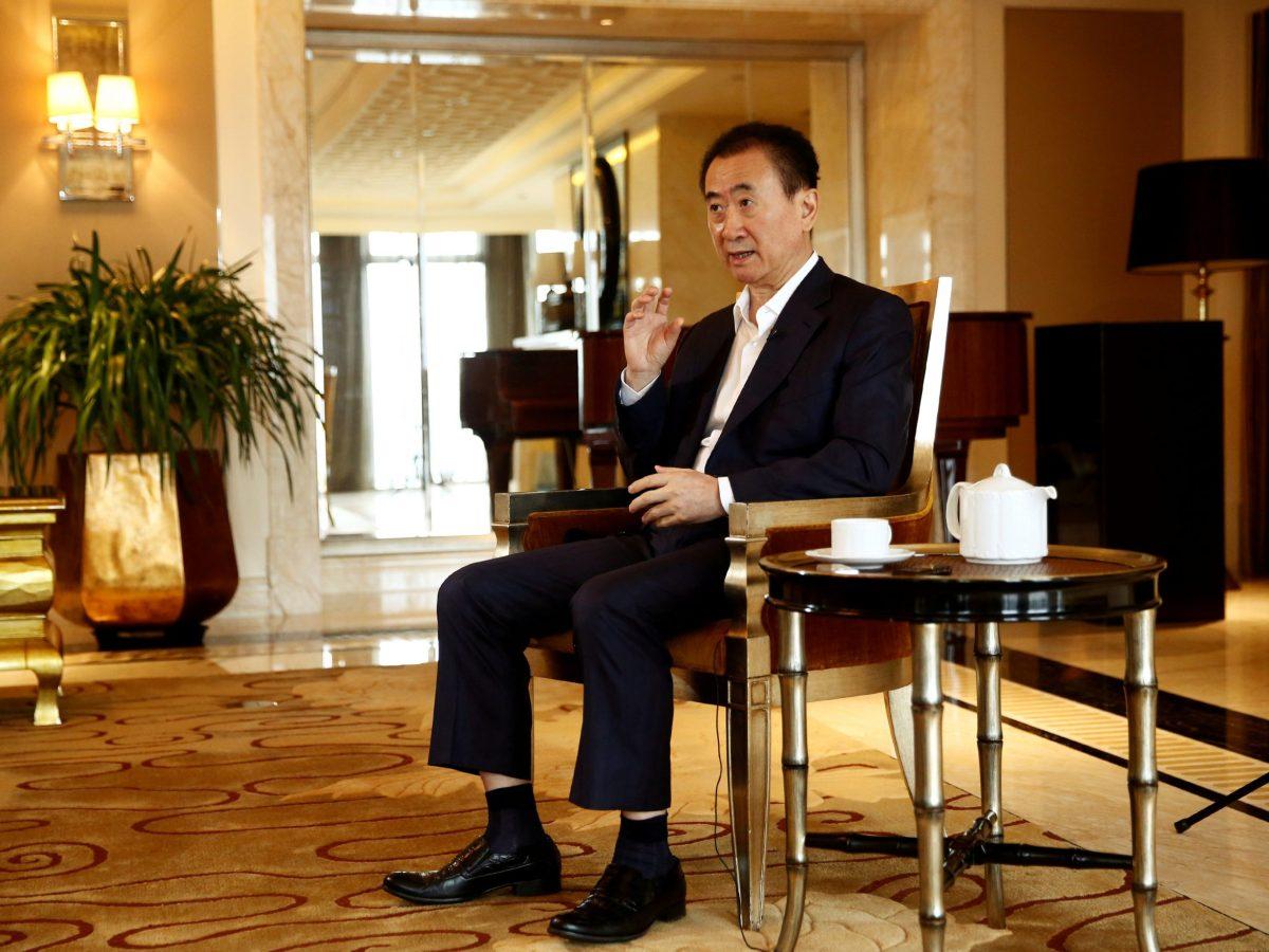Wang Jianlin, chairman of the Wanda Group, and China's richest person. Photo: Reuters/Thomas Peter