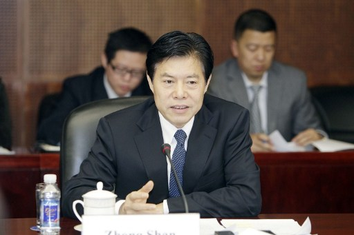 Zhong Shan, Minister of Commerce of China. Photo: Imaginechina, Guoji Shangbao