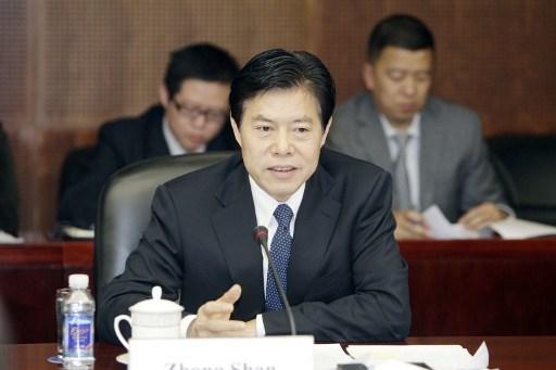 Zhong Shan, Minister of Commerce of China. Photo: Imaginechina, Guoji Shangbao