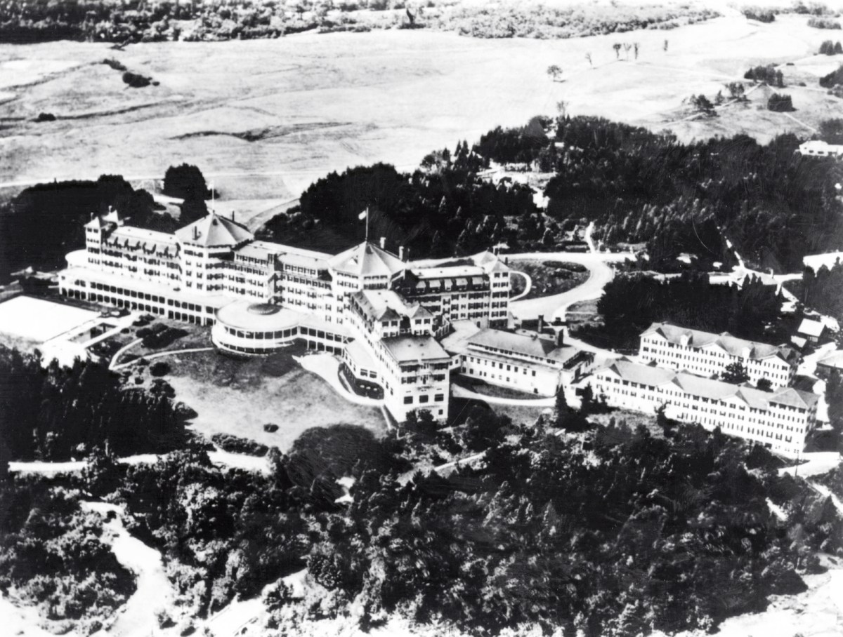 Aerial view of the Mount Washington Hotel where in July 1944 Allied leaders gathered to establish a new world economic order, including creation of the International Monetary Fund and the World Bank. Photo: AFP/INTERNATIONAL MONETARY FUND