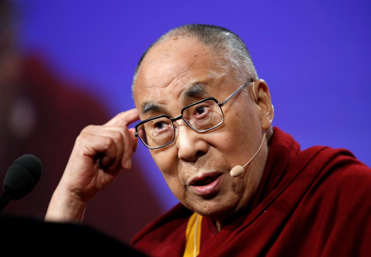 Tibetan spiritual leader Dalai Lama speaks at a conference in Indianapolis, Indiana. Photo/REUTERS/Files