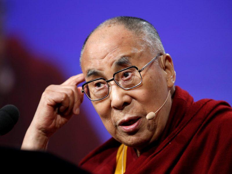 Tibetan spiritual leader Dalai Lama speaks at a conference in Indianapolis, Indiana. Photo/REUTERS/Files