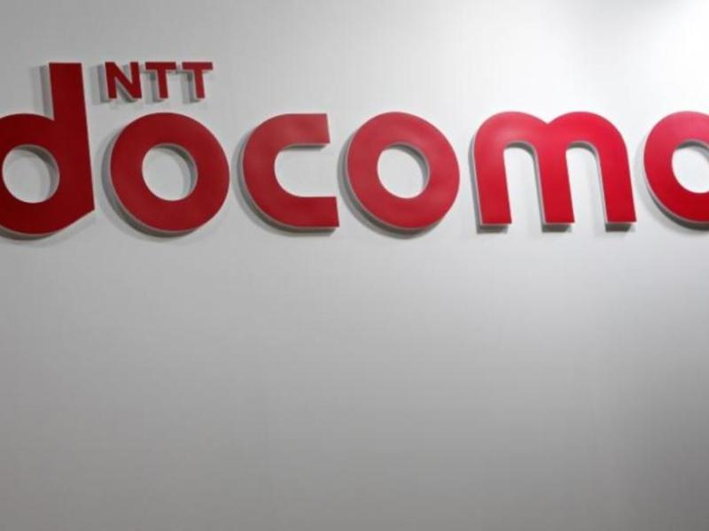 A logo of the Japanese telecom giant NTT Docomo at an exhibition in Tokyo. _ Reuters