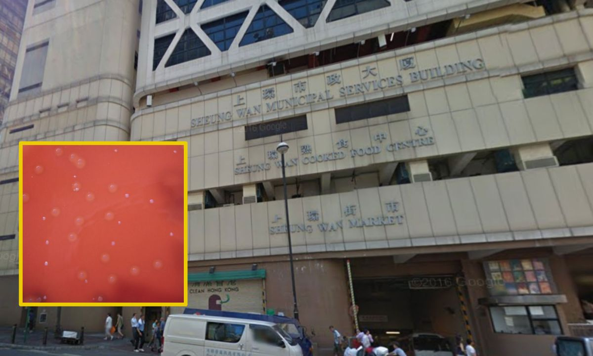 A woman died for necrotising fasciitis after visiting a public toilet in Sheung Wan. Photo: Wikimedia Commons, Google Map