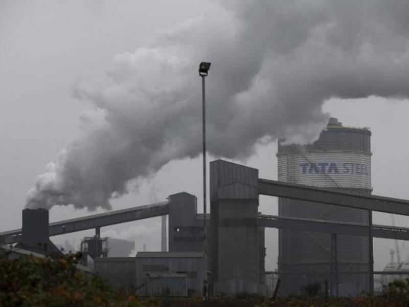 Tata Steel plant in Scunthorpe, northern England _ Reuters