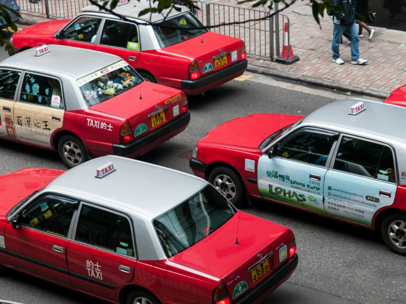 Hong Kong taxis  Photo: Wikimedia Commons