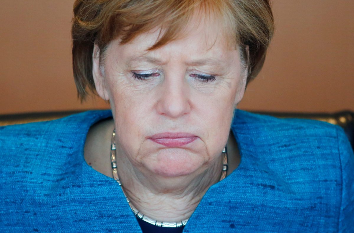 German Chancellor Angela Merkel attends the weekly cabinet meeting at the Chancellery in Berlin. Photo: Reuters/Hannibal Hanschke