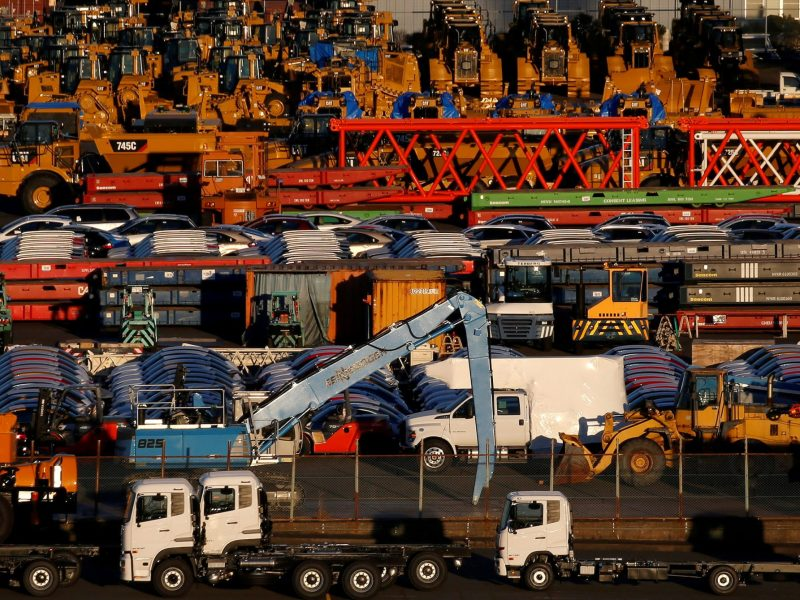New vehicles await export at a port in Yokohama, Japan, January 16, 2017.     REUTERS/Toru Hanai/File Photo