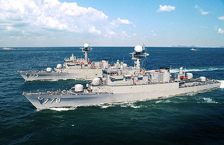 Pohang-class corvette anti-submarine warship. S. Korea plans to donate a used Pohang-class ship to the Philippines.