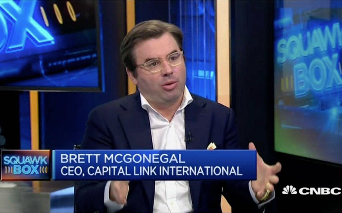 Capital Link International CEO Brett McGonegal says Beijing's shift from government-run businesses to new economy models has impacted entrepreneurship. Photo: CNBC screen grab