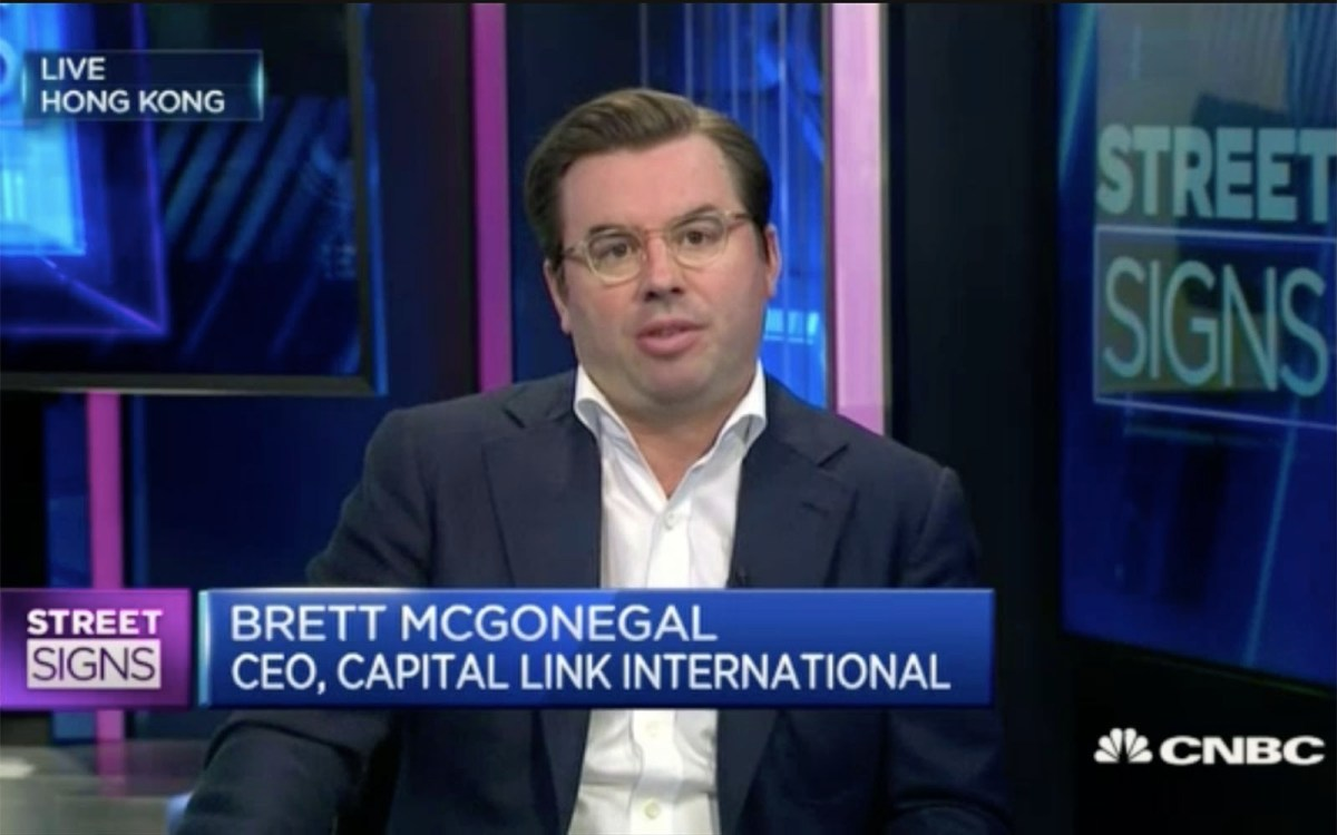 Capital Link International CEO Brett McGonegal. Photo: CNBC screen grab