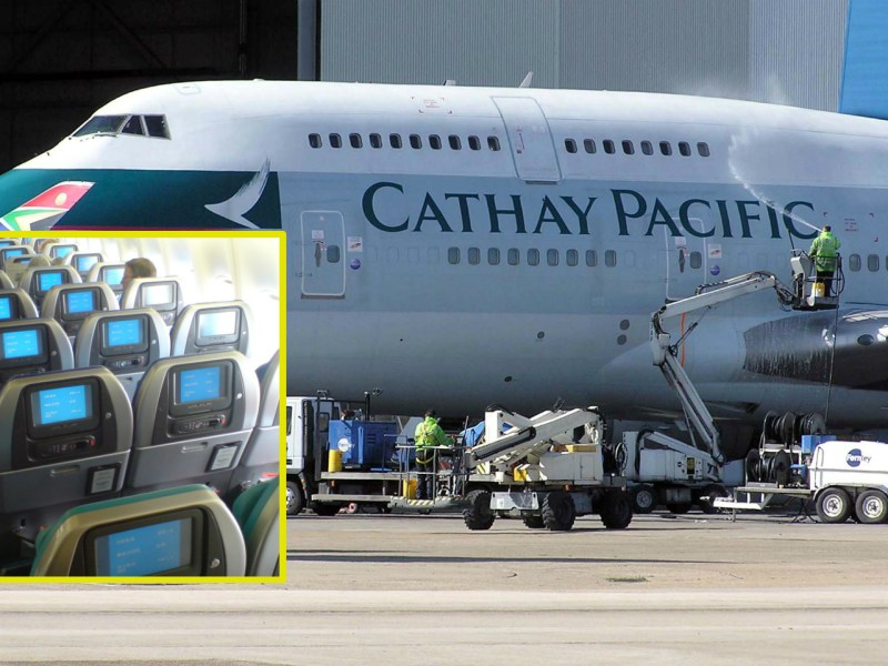 Last October, Cathay Pacific said it would narrow its seats from 18.5 feet o 17 feet in 2018. Photo: Wikimedia Commons