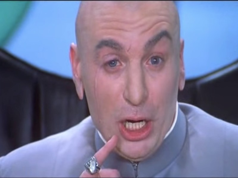 Perfect timing: Kim Jong-un is arguably just like Dr Evil. Photo: via YouTube trailer