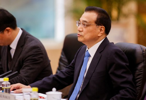 Chinese Premier Li Keqiang presiding over a meeting of the State Council. Photo: AFP