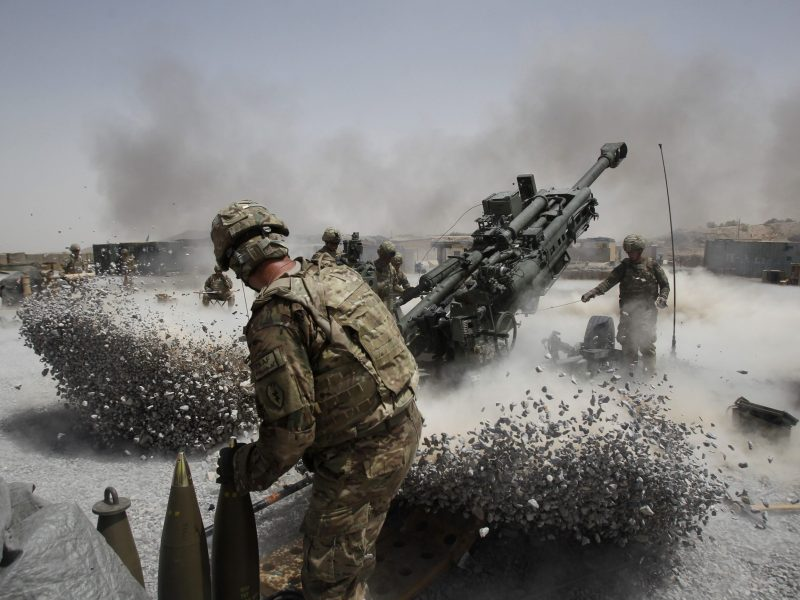 Earth shaking ... rumors of the US military's demise are premature. Photo: Reuters