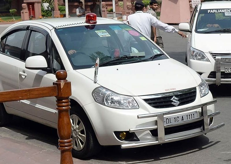 India will ban red beacons on all non-emergency vehicles from May 1. Photo: AFP