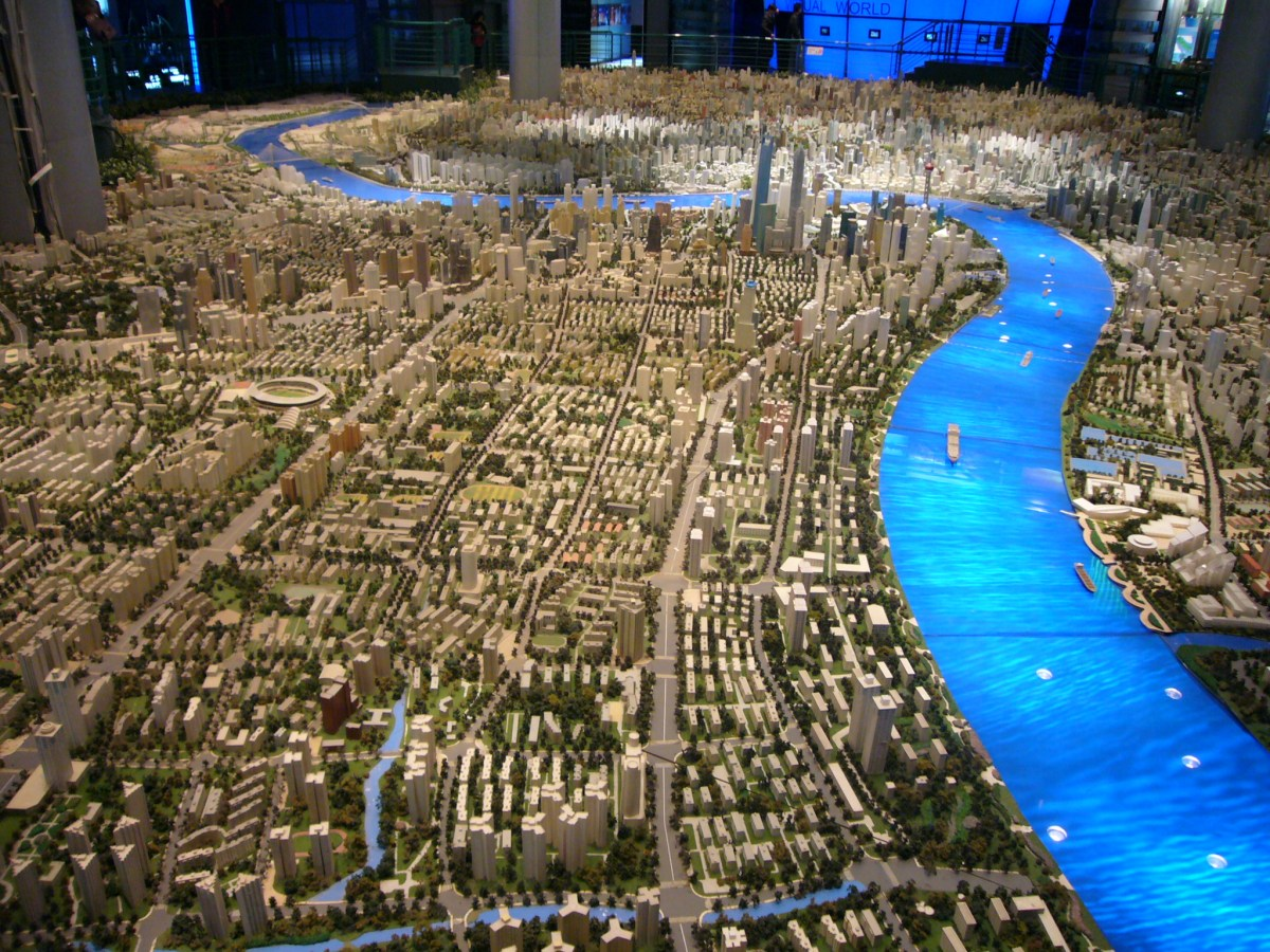 Is rehumanization of urban planning possible? A model of Shanghai in 2020. Photo: Wikimedia Commons