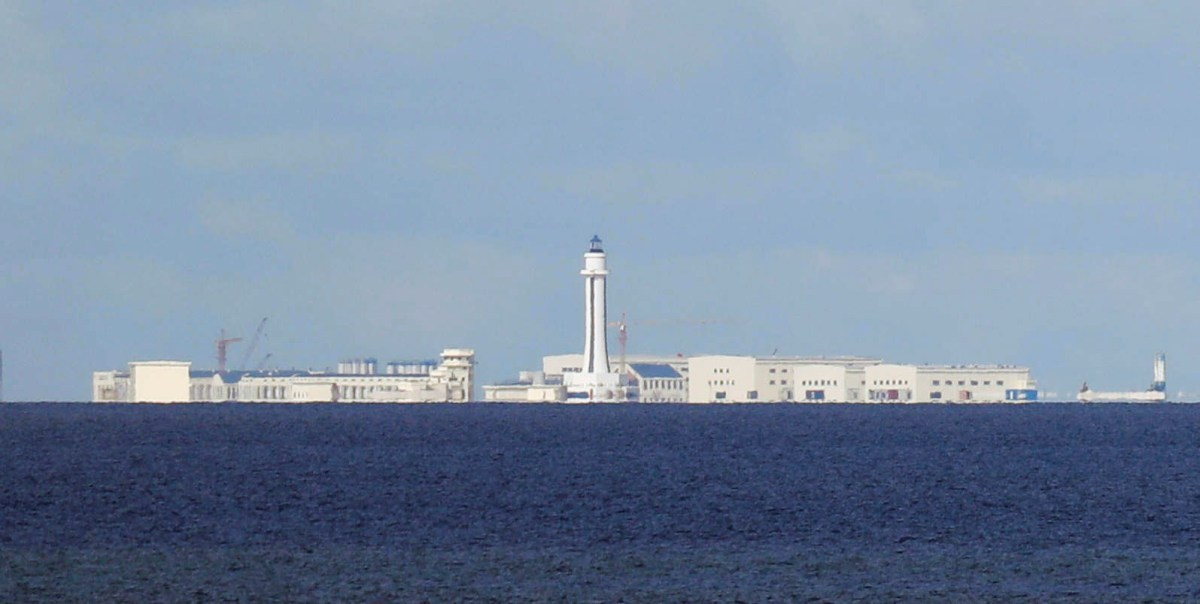 Chinese structures are pictured at the disputed Spratlys in the South China Sea. Photo: Reuters/Erik De Castro