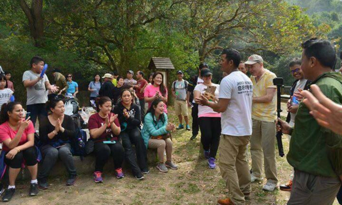 Two hiking activities have been held in Tai Tong Nature Trail in Yuen Long in New Territories West so far this year with more than 40 participants, who are mainly Nepalese. Photo: Tika Rana