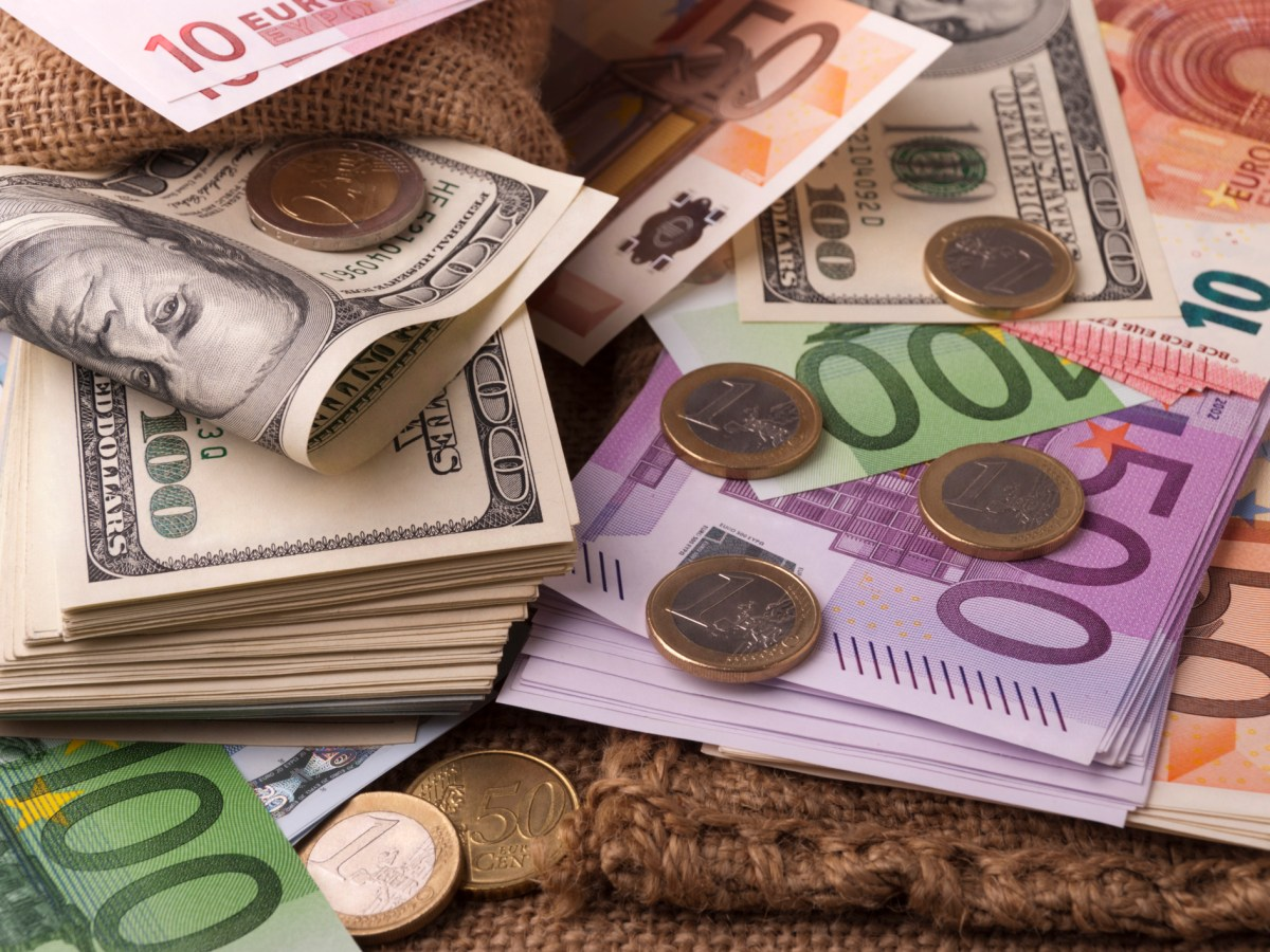 US dollars and euros. Photo: iStock