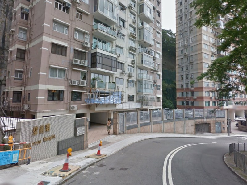 The break-in took place at Bellevue Heights at 8 Tai Hang Drive. Photo: Google Maps