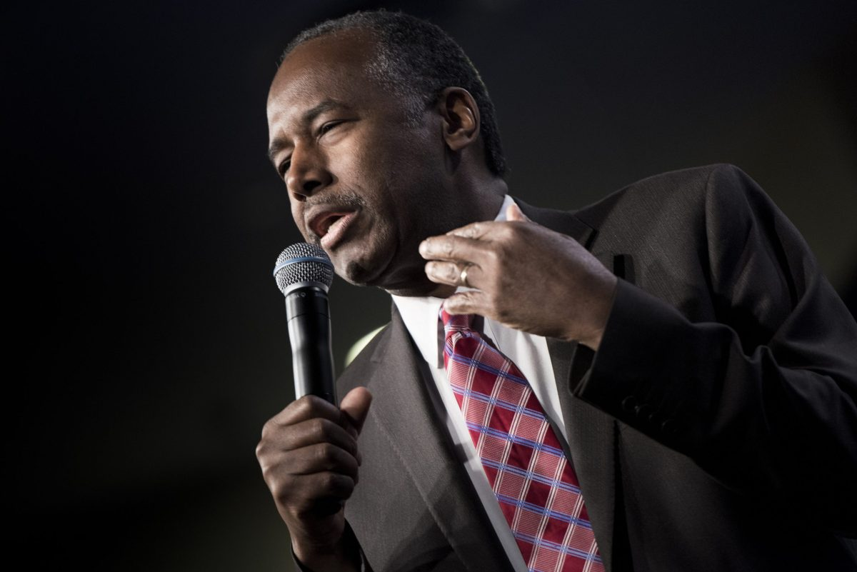US Secretary of Housing and Urban Development Ben Carson. Photo: AFP / Brendan Smialowski
