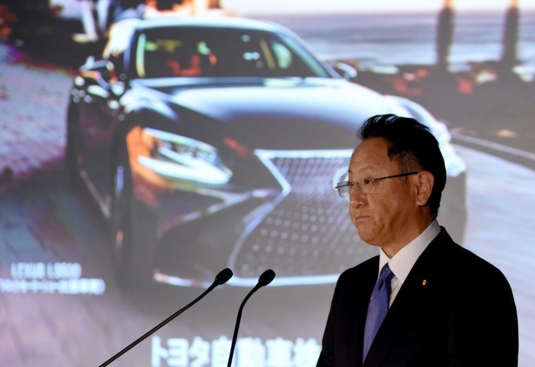 Toyota's Akio Toyoda is preparing for tough times if the Trump administration imposes further tariffs. Photo: AFP
