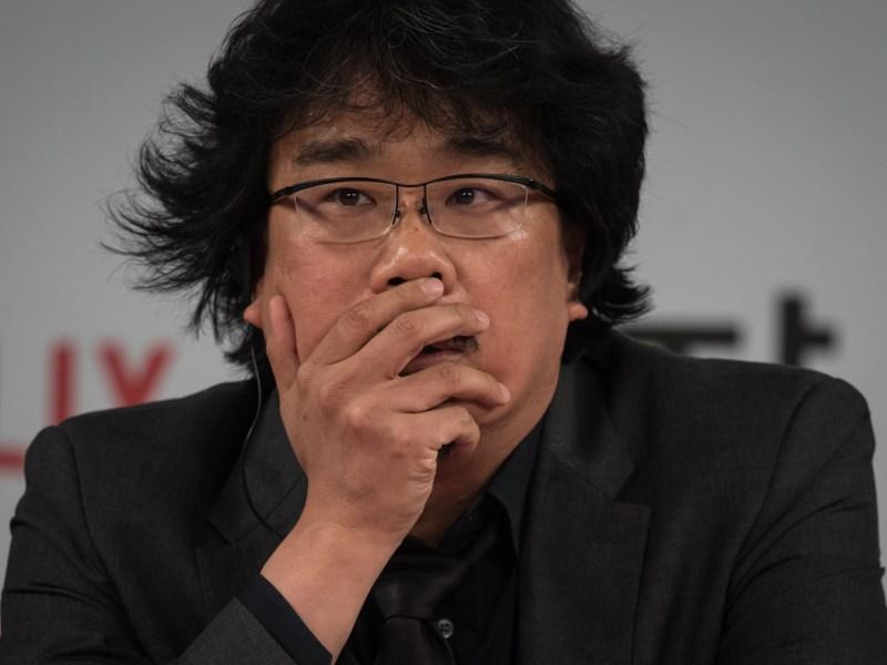 South Korean director Bong Joon-ho, director of the film Okja. Cannes. Photo: AFP/Jung Ha-won