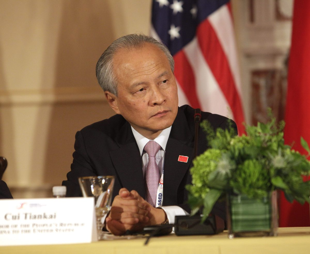 Cui Tiankai, China''s Ambassador to the US. Photo: AFP