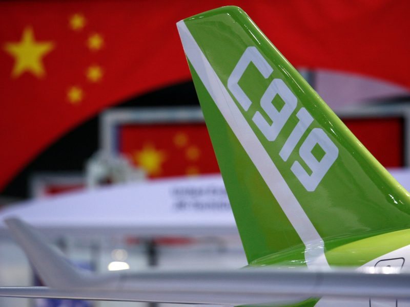 Unfair practice of forced technology transfer as been instrumental in the development of China's C919 passenger plane, argued one witness at the hearing. Photo: Reuters/Bobby Yip