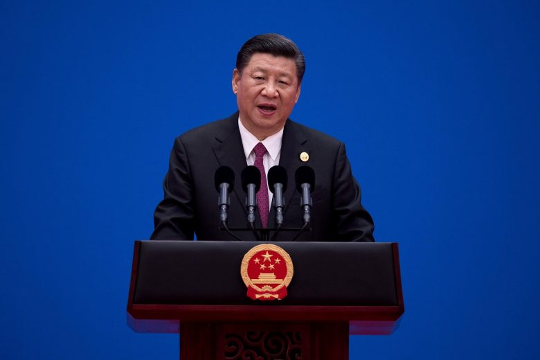 Chinese President Xi Jinping speaks during a briefing on the final day of the Belt and Road Forum in Beijing on May 15, Photo: Reuters