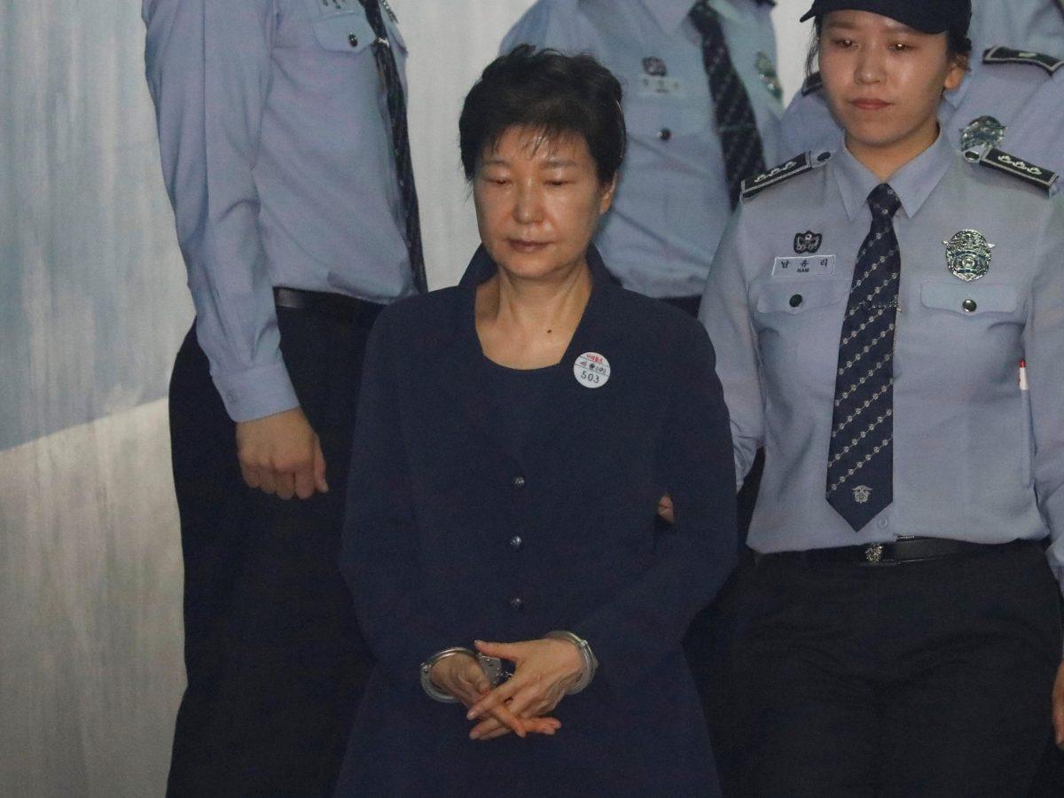 South Korean ousted leader Park Geun-hye arrives at a court in Seoul, South Korea, May 23, 2017. Reuters/Kim Hong-Ji