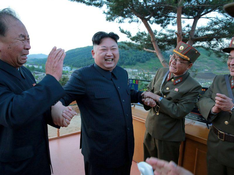Is the UN about to spoil North Korean leader Kim Jong-un's party? Photo: KCNA via Reuters