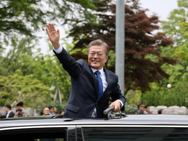 The man in the hot seat, South Korean President Moon Jae-in. Photo: Flickr