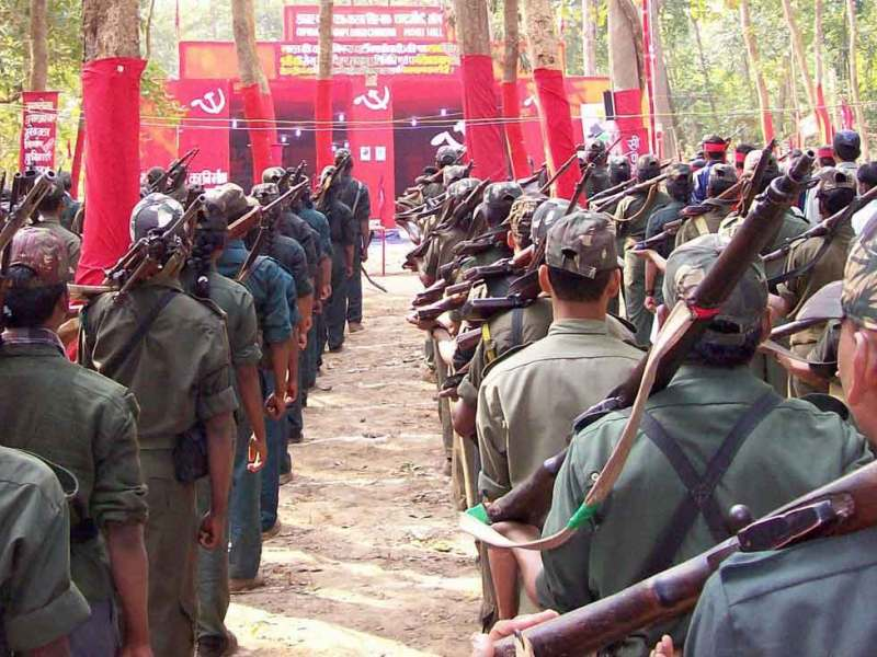 Maoist fighters in India. Photo: Flickr