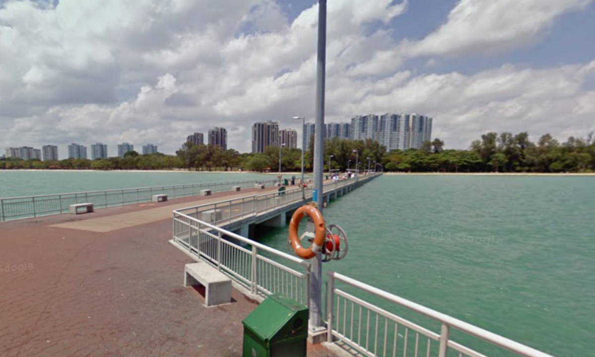 Bedok Jetty, East Coast Park, Singapore. Photo: Google Maps