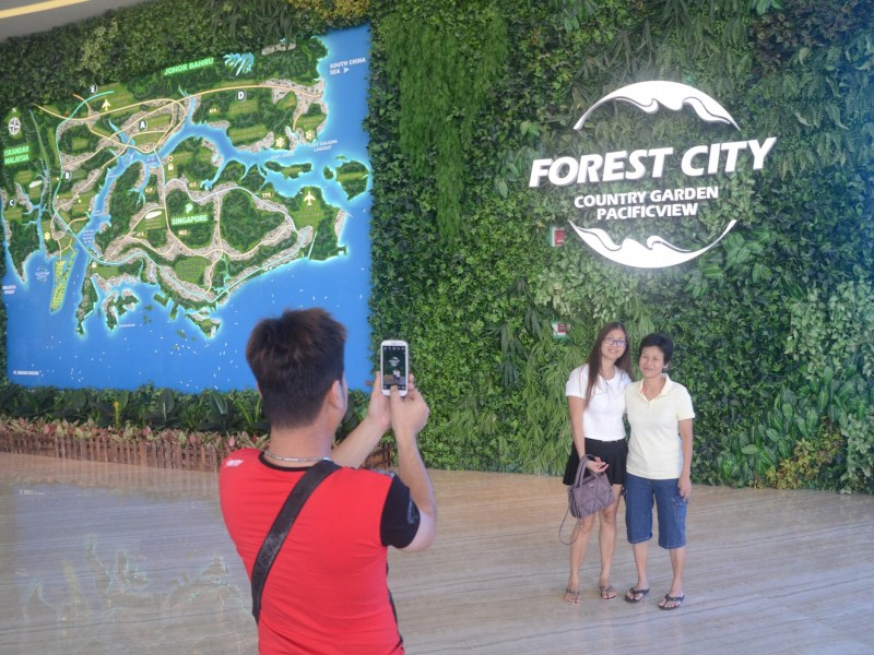 With prices of a fraction of what similar-sized pads cost in downtown Shanghai or Beijing, investment-hungry Chinese have been flooding in to property schemes in Malaysia, like Forest City. Photo: Johan Nylander