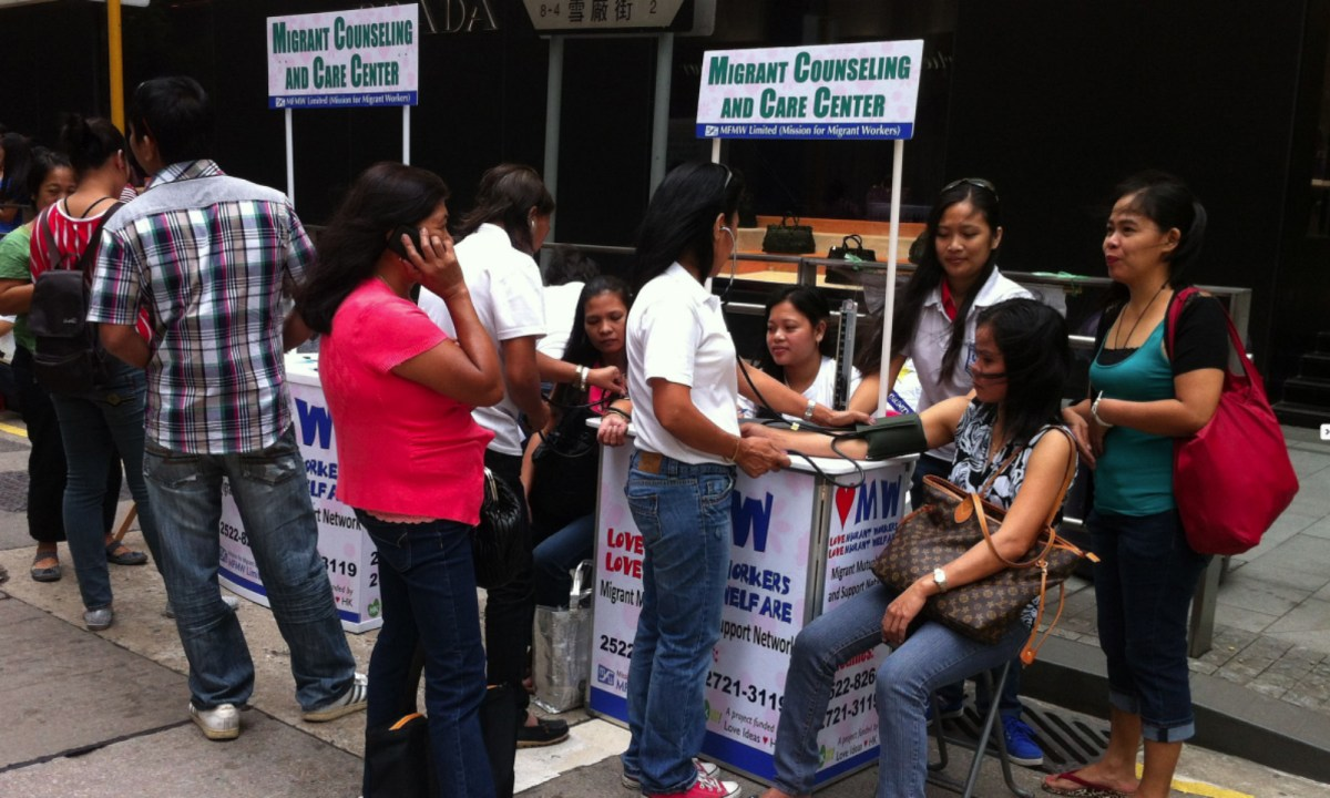 A survey showed that many employment agencies were overcharging domestic workers. Photo: MFMW