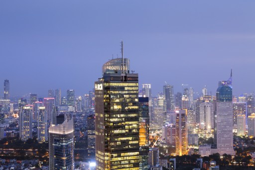 View of Jakarta, Indonesia.
