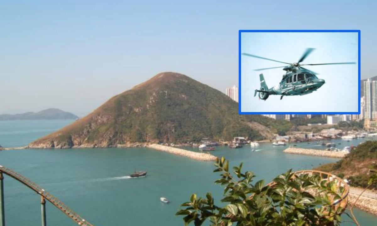 Mount Johnston, Ap Lei Chau, Hong Kong Island. Photos: Wikimedia Commons, Government Flying Service